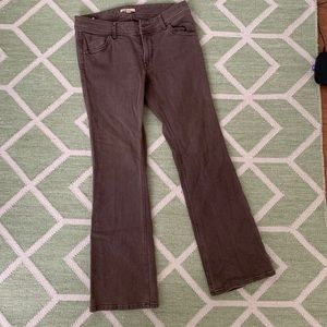 CABi Jeans with Flare Legs—Brown Wash Denim